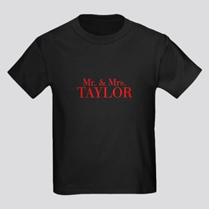Mr Mrs TAYLOR-bod red T-Shirt