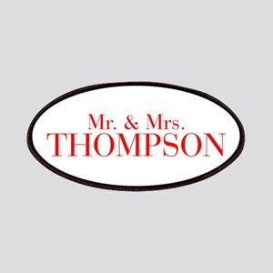 Mr Mrs THOMPSON-bod red Patches