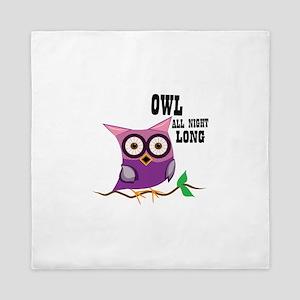 Owl All Night Long Queen Duvet