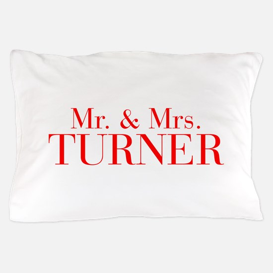 Mr Mrs TURNER-bod red Pillow Case