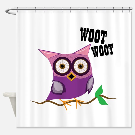 Woot Woot Owl Shower Curtain