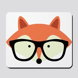 Hipster Red Fox Mousepad