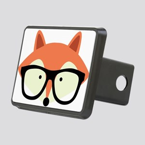 Hipster Red Fox Rectangular Hitch Cover