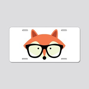 Hipster Red Fox Aluminum License Plate