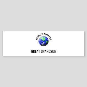 World's Coolest GREAT GRANDSON Bumper Sticker