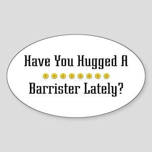 Hugged Barrister Oval Sticker