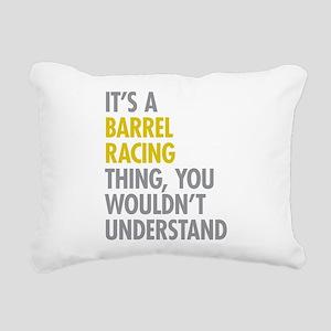 Barrel Racing Thing Rectangular Canvas Pillow