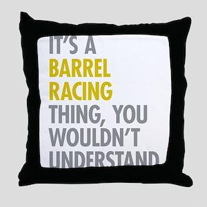 Barrel Racing Thing Throw Pillow