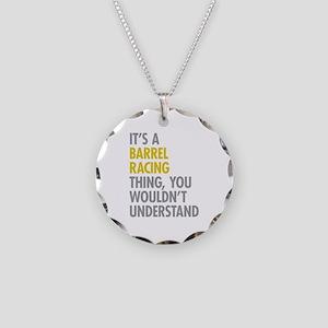 Barrel Racing Thing Necklace Circle Charm