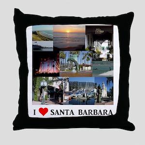 I LOVE SANTA BARBARA CALIFORNIA Throw Pillow
