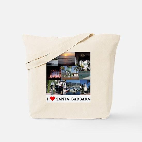 I LOVE SANTA BARBARA CALIFORNIA Tote Bag