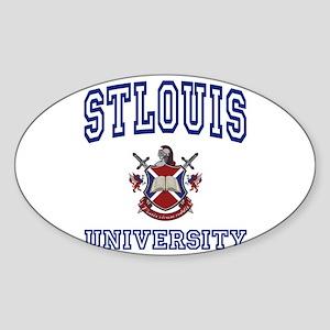 STLOUIS University Oval Sticker