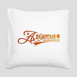 Arizona State of Mine Square Canvas Pillow