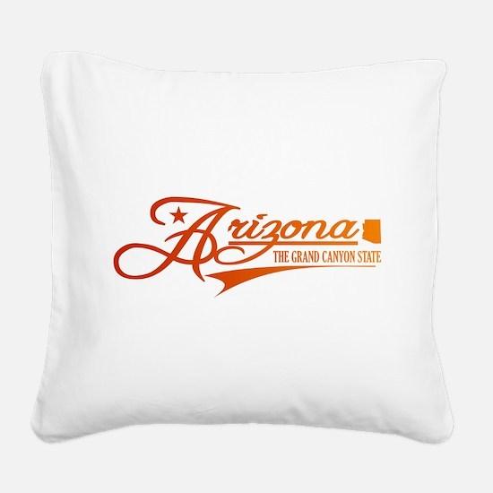 Arizona State of Mine Square Canvas Pillow