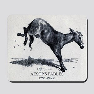 Harrison Weir - The Mule - Aesop - 1867 Mousepad