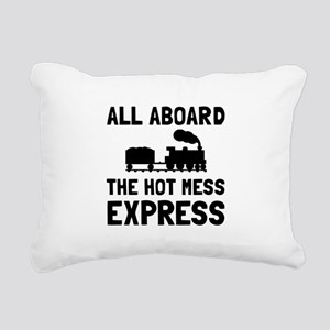 Hot Mess Express Rectangular Canvas Pillow