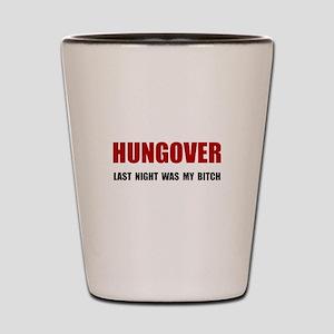 Hungover Shot Glass