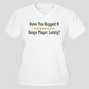Hugged Banjo Player Women's Plus Size V-Neck T-Shi