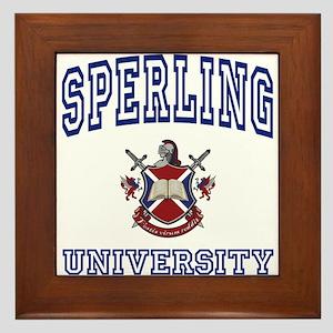 SPERLING University Framed Tile