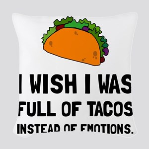 Tacos Emotions Woven Throw Pillow