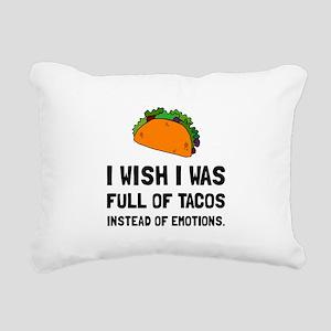 Tacos Emotions Rectangular Canvas Pillow