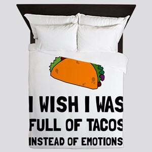 Tacos Emotions Queen Duvet