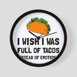 Tacos Emotions Wall Clock