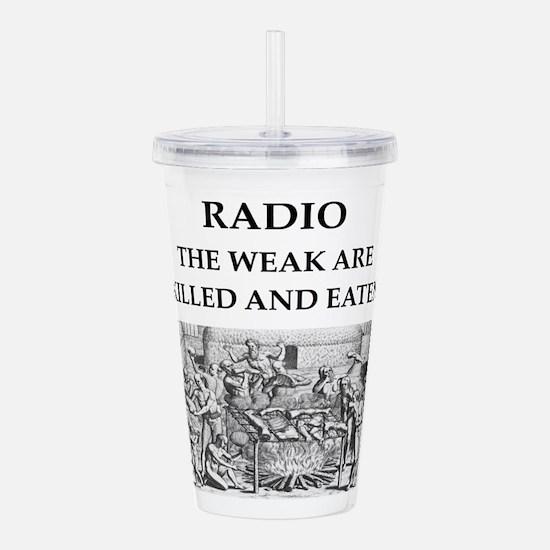 radio Acrylic Double-wall Tumbler