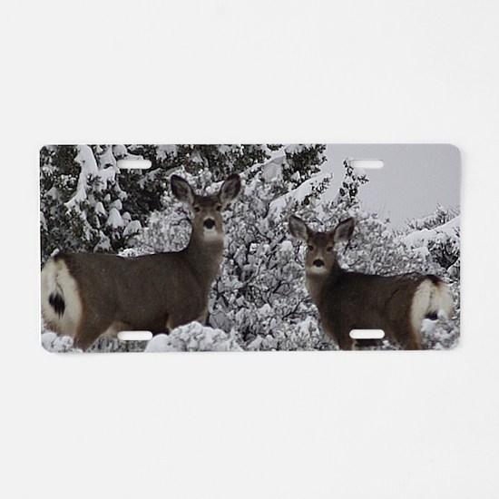 Mule Deer in the Oregon Sno Aluminum License Plate