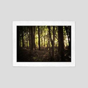 Sunlit Forest 5'x7'Area Rug