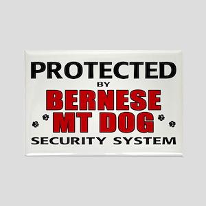 Bernese MT Dog Security Rectangle Magnet