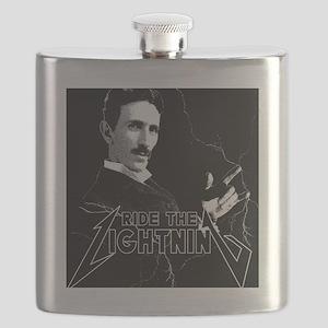 Tesla ride the lightning Flask