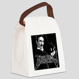 Tesla ride the lightning Canvas Lunch Bag