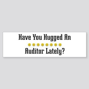 Hugged Auditor Bumper Sticker