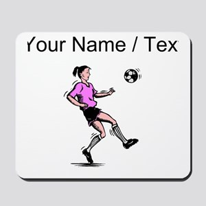 Custom Girl Soccer Player Mousepad