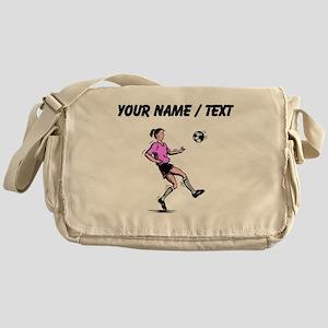 Custom Girl Soccer Player Messenger Bag
