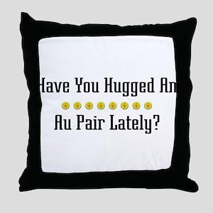 Hugged Au Pair Throw Pillow