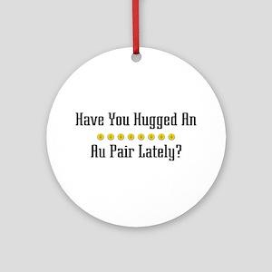 Hugged Au Pair Ornament (Round)