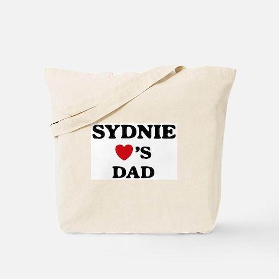 Sydnie loves dad Tote Bag