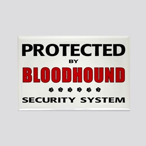Bloodhound Security Rectangle Magnet