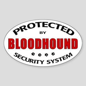 Bloodhound Security Oval Sticker