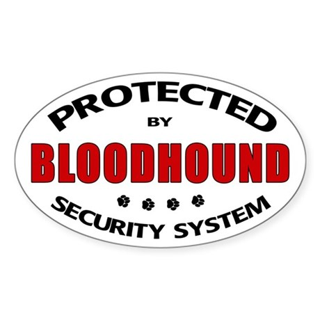 Bloodhound Security Oval Sticker