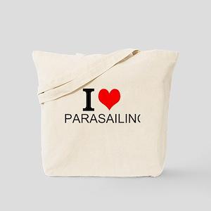 I Love Parasailing Tote Bag