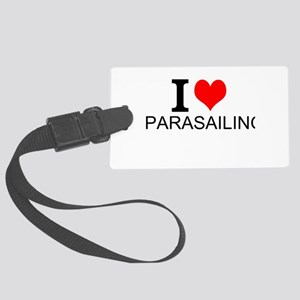 I Love Parasailing Luggage Tag