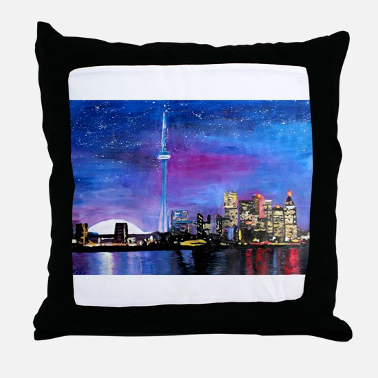 TorontoToronto Skyline at Night Throw Pillow