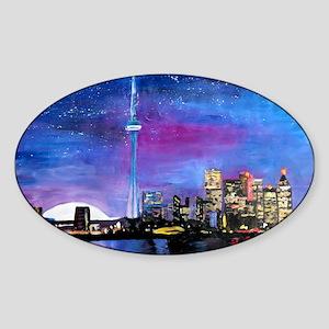 TorontoToronto Skyline at Night Sticker
