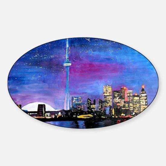 TorontoToronto Skyline at Night Decal