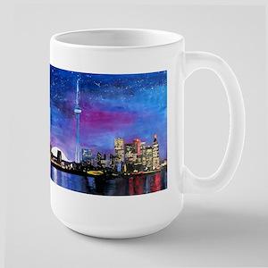 TorontoToronto Skyline at Night Mugs