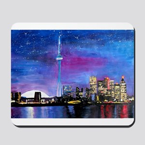 TorontoToronto Skyline at Night Mousepad