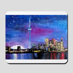 TorontoToronto Skyline at Night Mousepad